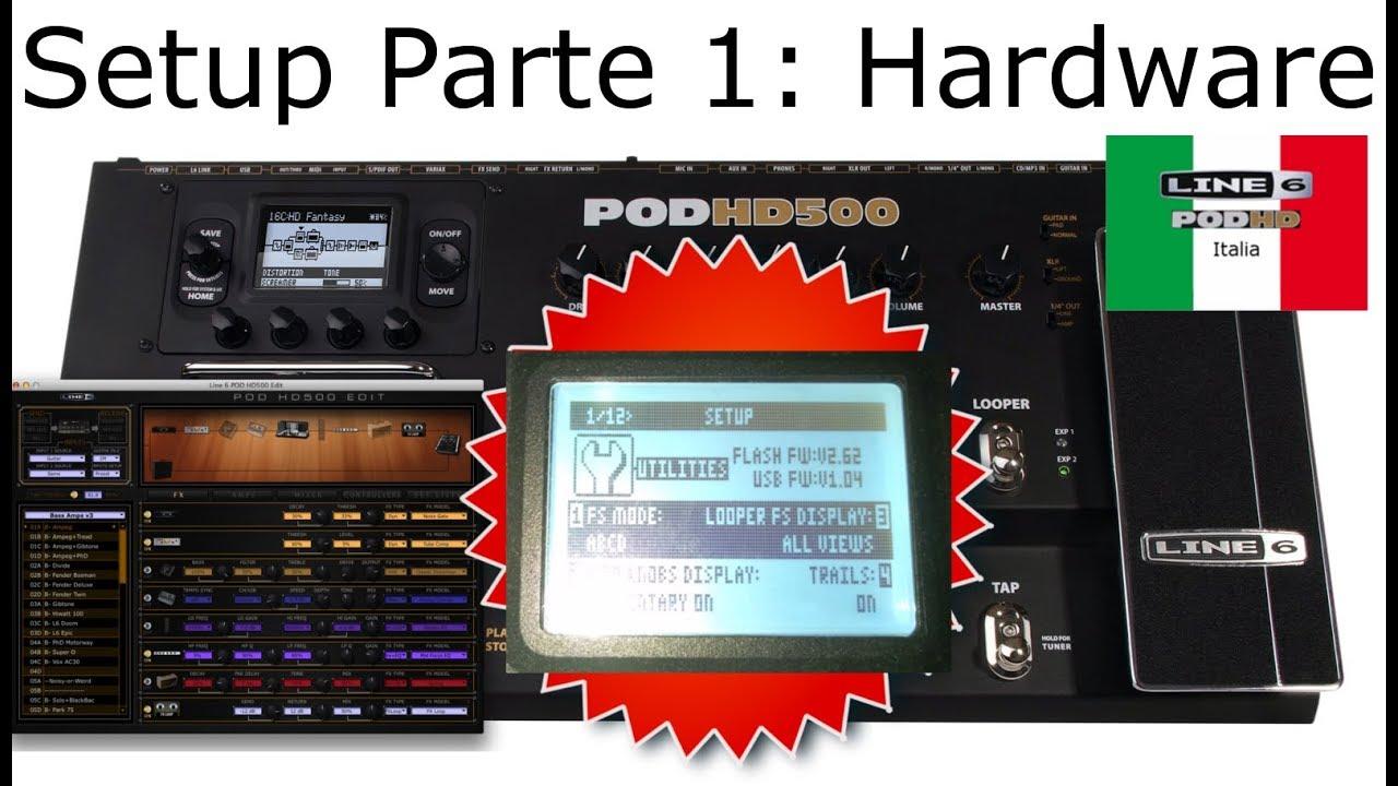 Line6 Pod HD ITA - Tutorial Preparazione Pt.1: Setup Hardware - YouTube