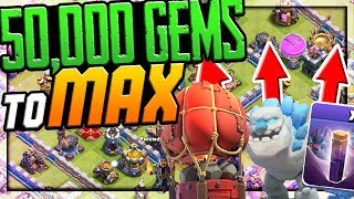50,000 GEMS to MAX?! Clash of Clans UPDATE!