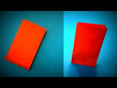 How to Make a Paper Bag for a Gift DIY - Easy Origami Step by Step