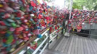 exploring love lock avenue in seoul tower