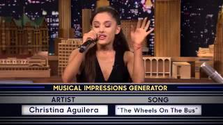 Ariana's awesome Christina Aguilera impression❤