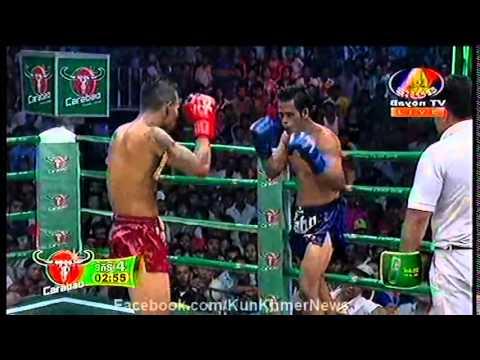 Khmer Boxing, Pich Seyha VS Thai, Bayon Tournament Boxing, 12 September 2015