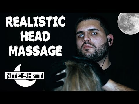 ASMR Realistic Head Massage (Ear Cupping, Scalp Massage, Stroking/Playing With Your Hair)