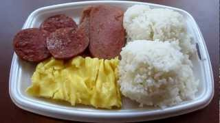 Mcdonald's Hawaii Local Deluxe Breakfast Platter Portuguese Sausage Spam Eggs Rice Mililani Oahu
