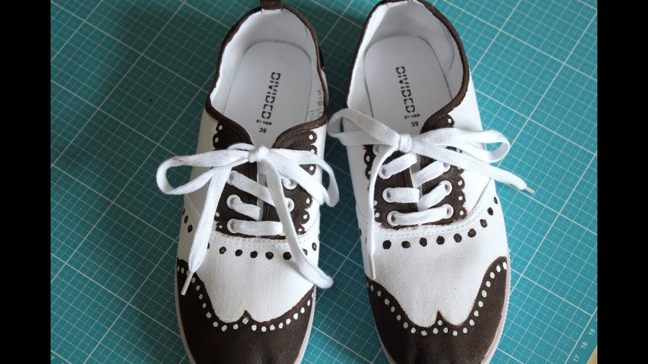 DIY Schuhe im Oxfordstil bemalen #upcycling – DIY Eule ...