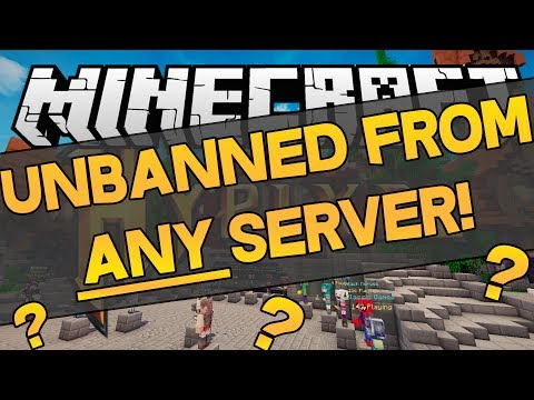 GET UNBANNED FROM ALL MINECRAFT SERVERS??!?