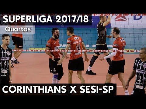 CORINTHIANS X SESI-SP AO VIVO | QUARTAS SUPERLIGA 17/18 HD