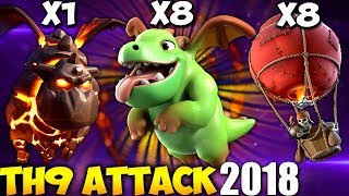 BABYLALO: TH9 3 STAR WAR ATTACK STRATEGY 2018 | Clash of Clans