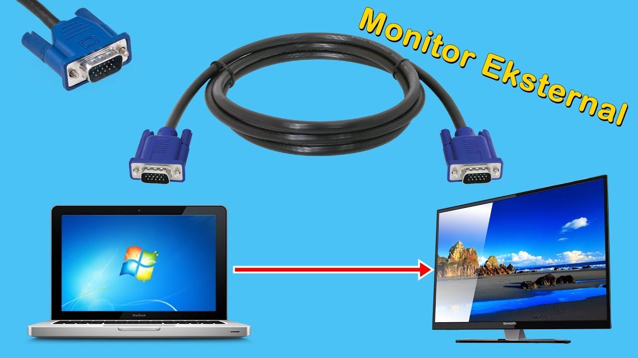 Cara Menyambungkan Laptop Ke Monitor Eksternal Atau Tv Youtube