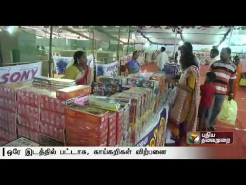 Puducherry Govt. aided store begins to sell necessary crackers and products for Diwali