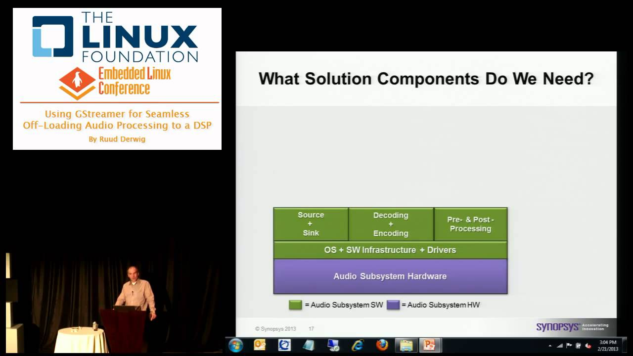 Embedded Linux Conference 2013 - Using GStreamer for Seamless Off-loading  Audio Processing