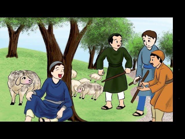 قصة (الراعي والذئب) ونص الاستماع (الصدق خلقي) الدرس الثالث للصف الثالث😍