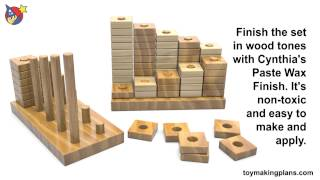 Wood Toy Plans -  Learn Your Numbers Learning Toys