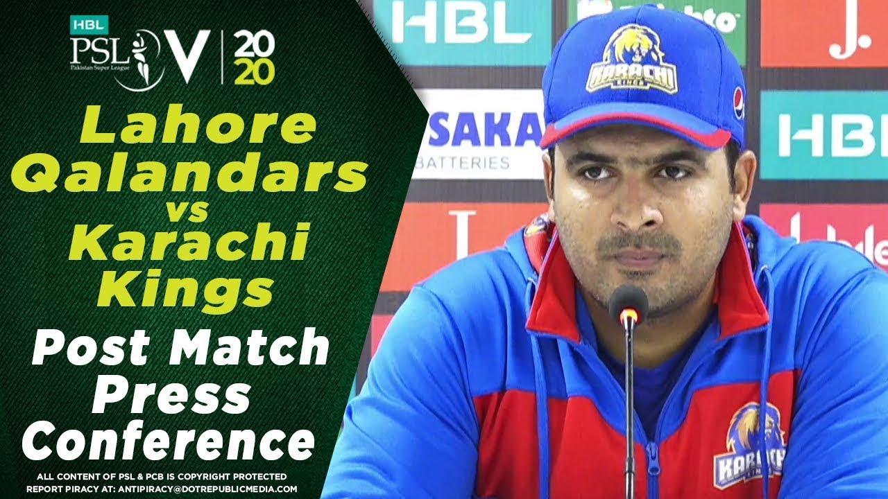Sharjeel Khan Post Match Press Conference | Lahore Qalandars vs Karachi Kings | HBL PSL 2020