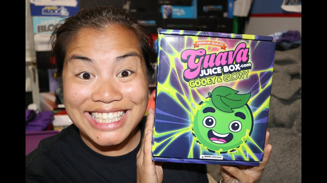 Gava Juice Toy : July guava juice box unboxing gooey glowy