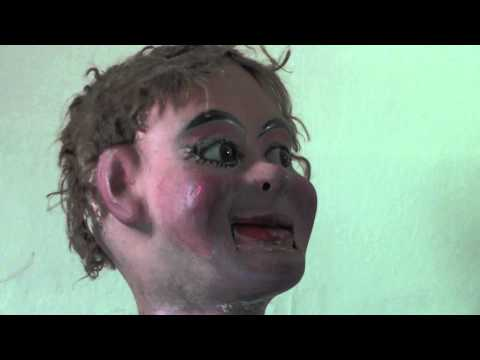 Hugo the robotic ventriloquist's dummy (Sarah Angliss)