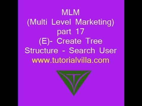 MLM(Multi Level Marketing) website using php part 17(E) - Create Tree  Structure - Search User