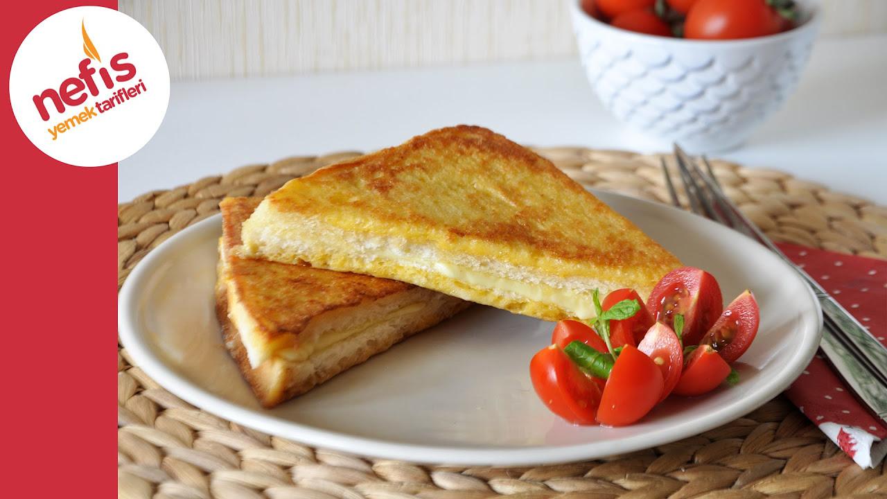 Tavada Yumurtalı Tost   Fransız Tostu Tarifi