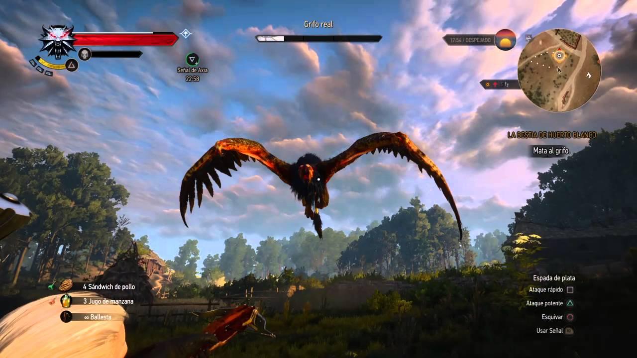 Resultado de imagen de the witcher wild hunt lucha grifo