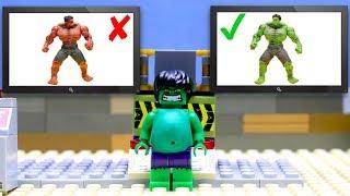 Transformers LEGO car experemental truck Optimus Prime, Hulk vs red Hulk! Marvel Superhero toys