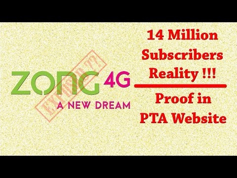 Zong 4G Network, 14 Million Subscriber's claim Exposed???