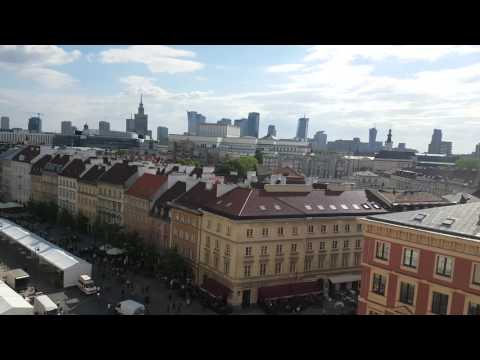 View of Warsaw Old Town From Church of St Anny Tower