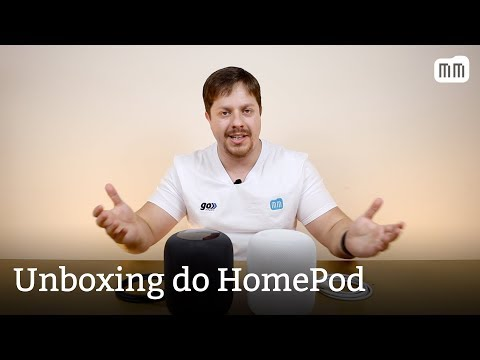 Unboxing do HomePod