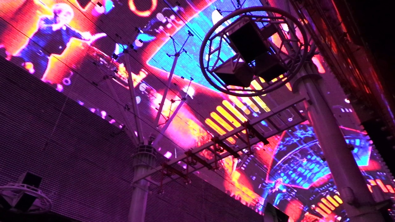 Las Vegas Downtown Roof Light Show You