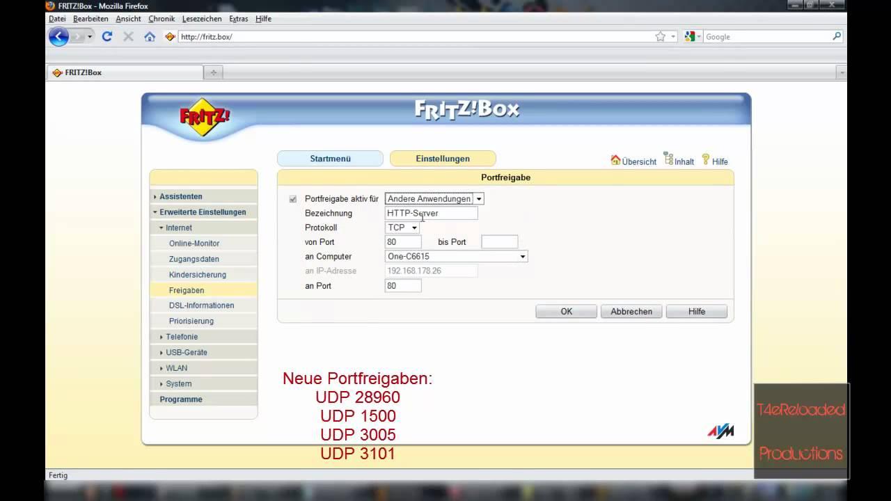 Fritzbox Nat Typ ändern