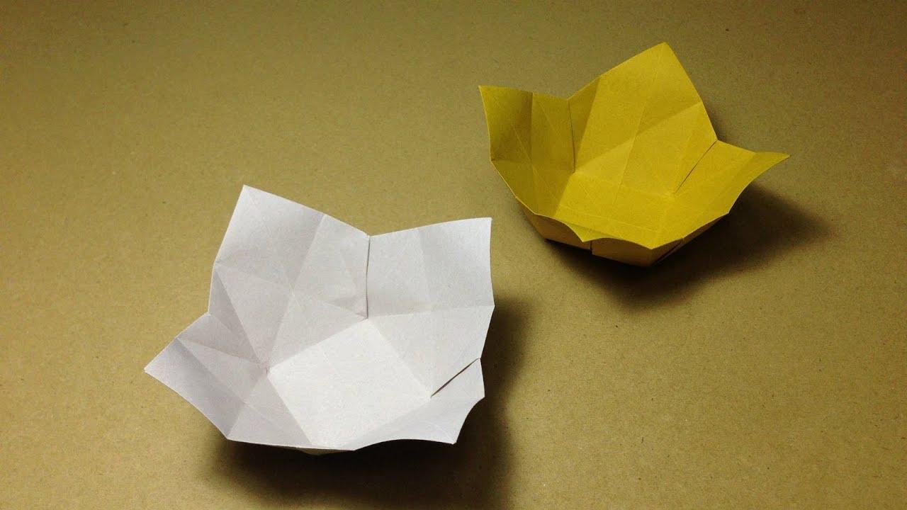 すべての折り紙 折り紙菊の折り方 : ... 折り方 作り方 実用 入れ物
