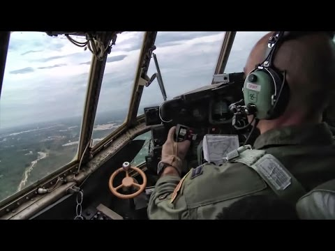C-130 Airdrops Humvees • Cockpit & Cargo Bay View