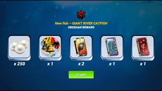 Obsidian Reward Giant River Catfish Fishing Clash