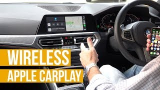 Wireless Apple CarPlay - demonstrated in a BMW 320d