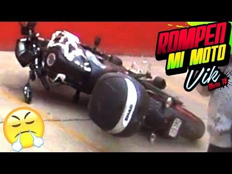 Tiran mi moto y rompen varias piezas ¿cuanto costó arreglarla?