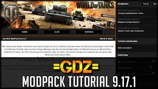 World of Tanks - GdZ Modpack Tutorial - 9.17.1 [ deutsch 🐄 Tutorial ]