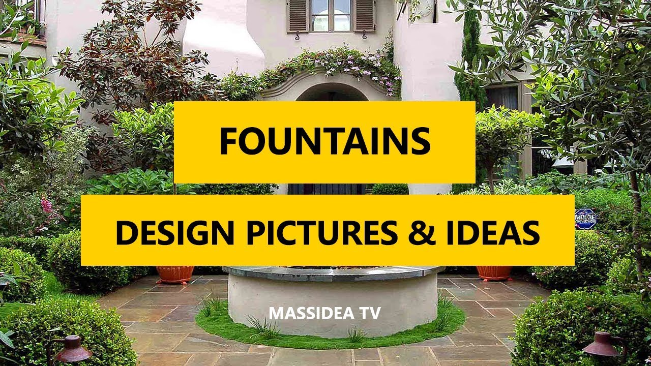 50+ Best Outdoor Fountains Design Pictures & Ideas 2018 - YouTube