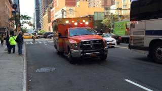 ST. LUKES HOSPITAL EMS AMBULANCE RESPONDING ON W. 42ND ST. IN HELL