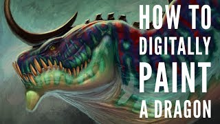 How to Digitally Paİnt a Dragon