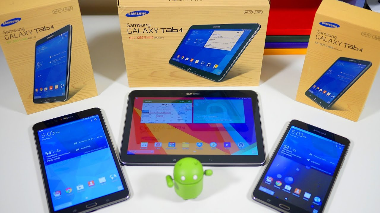samsung galaxy tab 4 7 0 8 0 10 1 unboxing review. Black Bedroom Furniture Sets. Home Design Ideas
