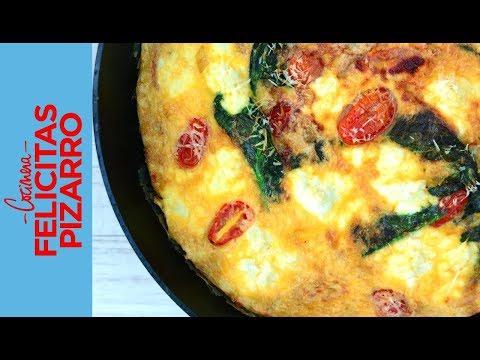 Frittata de Tomate, Queso & Espinaca | Felicitas Pizarro