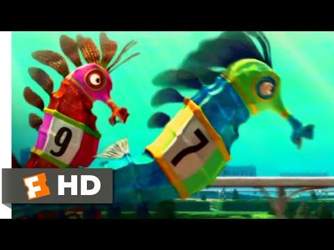 Shark Tale (2004) - Seahorse Race Scene (5/10) | Movieclips