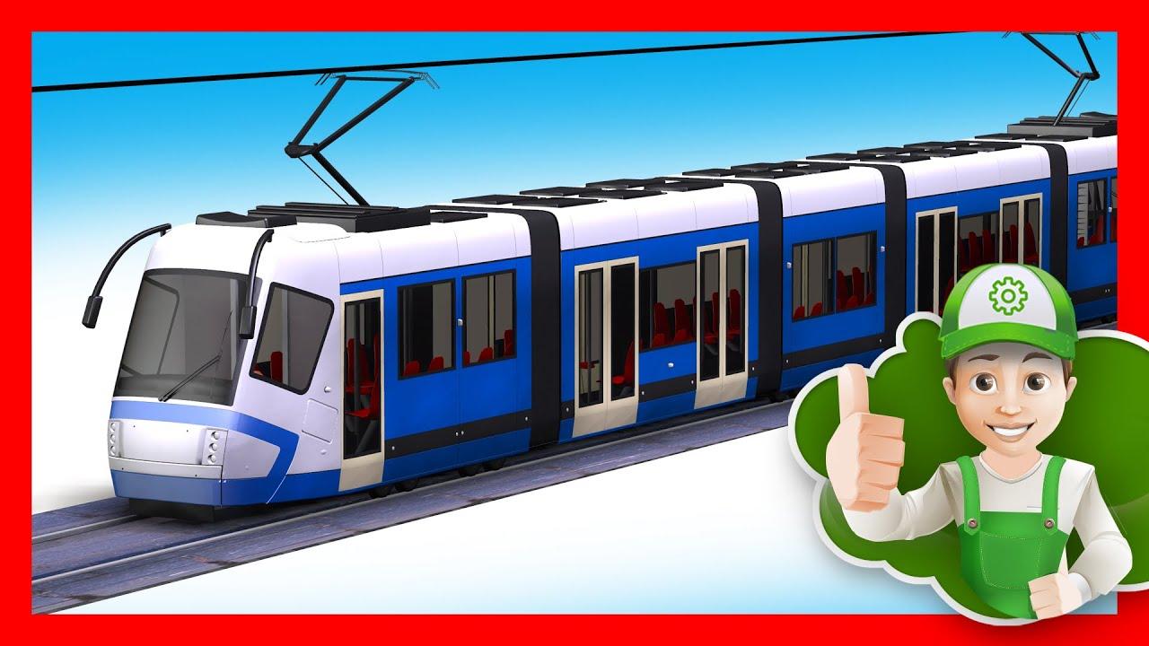 Мультфильм про трамвай.  Развивающий мультик про транспорт. Хочу Знать Все