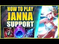 *RANK 1 SUPPORT* HOW TO PLAY JANNA LIKE A CHALLENGER - League Of Legends