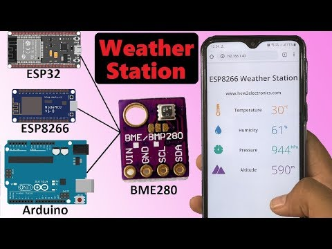 BME280 Weather Station | With Arduino, ESP8266 & ESP32