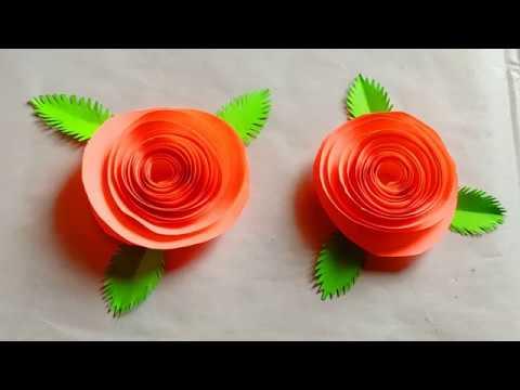 Paper work, Paper flower, Paper Craft, Craft work, Origami flower, Craft with paper,