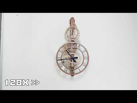 Electromagnetic wooden gear clock 電磁木齒輪擺鐘