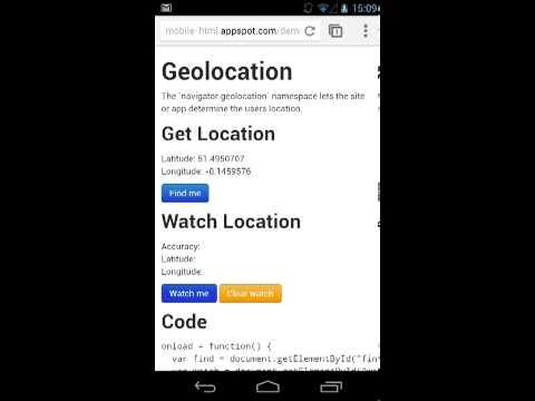 Demo of GeoLocation API