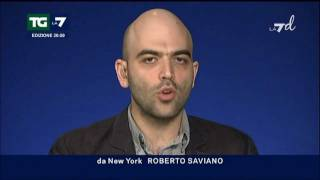 Roberto Saviano commenta l'arresto di Michele Zagaria - TG LA7 7/12/11