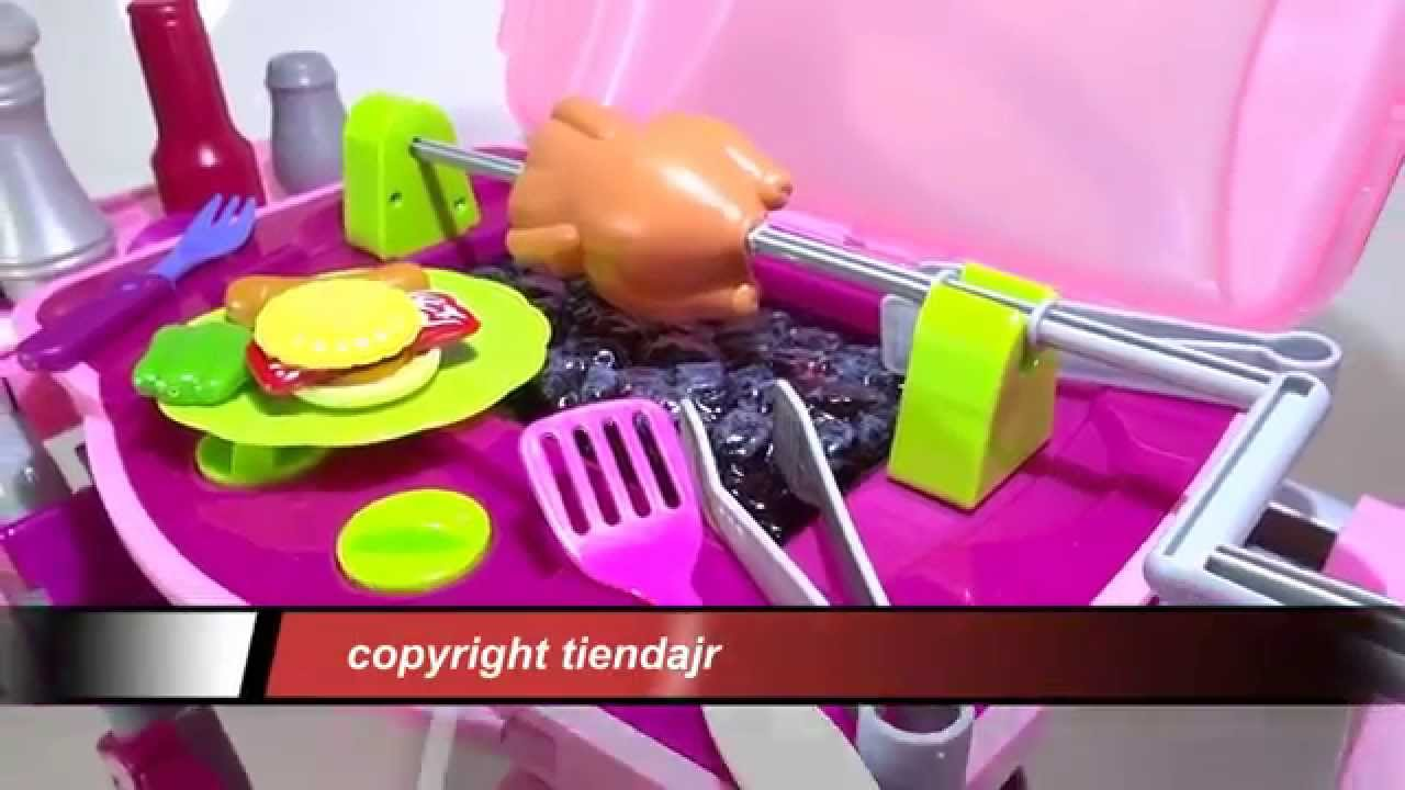 Bbq Grill Kitchen Toy For S Lights And Sounds Becomes Suitcase