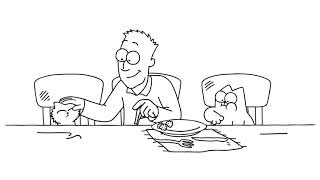 Fast Food A Thanksgiving Special   Simon's Cat   BLACK & WHITE